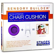 """Stages Learning Materials Sensory Builder® Active Attention Chair Cushion, 13"""" Diameter, PVC, Purple (SLM2103)"""