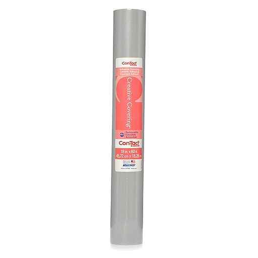"""Kittrich Con-Tact® Adhesive Roll, 18"""" x 60', Slate Gray (KIT60FC9AA2601)"""