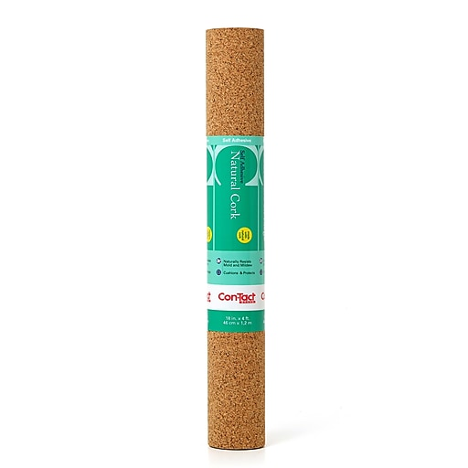 "Kittrich Con-Tact® Adhesive Roll, 18"" x 4', Cork (KIT04FC642106)"