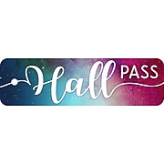 Top Notch Teacher Products Plastic Hall Pass, Galaxy Script Hall Pass, Pack of 6 (TOP10170BN)
