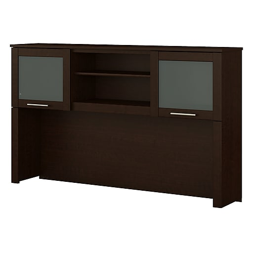 Bush Furniture Somerset 60W Hutch for L Shaped Desk, Mocha Cherry (WC81831)