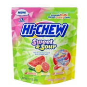 Hi-Chew Fruit Chews Sweet & Sours Stand Up Pouch 12.7 oz, 4 Count (MOR00813)