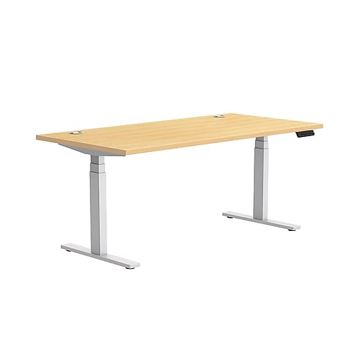 Wondrous Workplace2 0 30X60 Height Adjustable Table Maple Home Remodeling Inspirations Cosmcuboardxyz