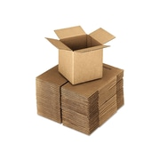 """20"""" x 20"""" x 20"""" Shipping Boxes, ECT Rated, Brown, 10/Bundle (UFS202020)"""