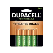 Duracell NiMH Batteries, AA, 4/Pack (DX1500B4N001)