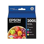 Epson T200XL Black/Cyan/Magenta/Yellow High Yield Ink Cartridge, 4/Pack