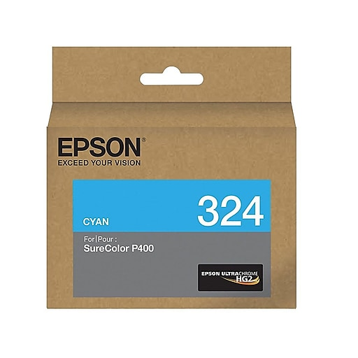 Epson 324 Cyan Ink Cartridge, Standard Yield (T324220)