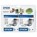 Epson T60 Black Standard Yield Ink Cartridge, 2/Pack