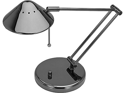 "V-Light Halogen Desk Lamp, 15"", Brushed Nickel (VSD102BC)"