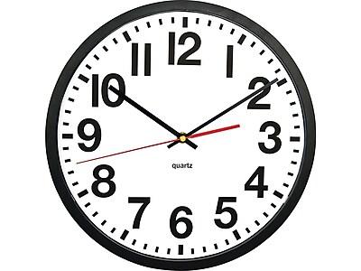 """Tempus Wall Clock, Plastic, 13"""" (TC6236RF)"""