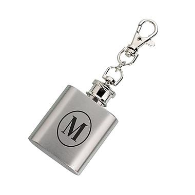 Lillian Rose Mini Silver Flask Monogram - M (FL670 M)