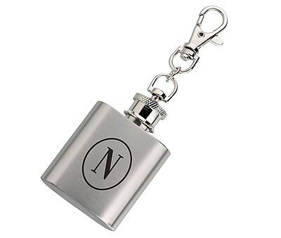 Lillian Rose Mini Silver Flask Monogram - N (FL670 N)