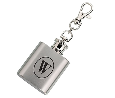 Lillian Rose Mini Silver Flask Monogram - W (FL670 W)