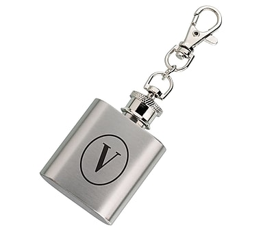 Lillian Rose Mini Silver Flask Monogram - V (FL670 V)