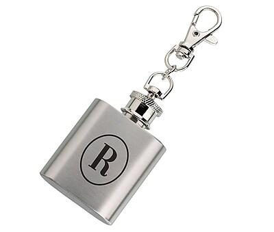 Lillian Rose Mini Silver Flask Monogram - R (FL670 R)