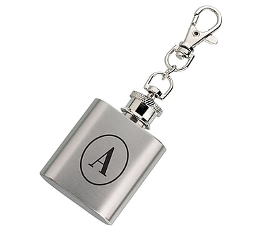 Lillian Rose Mini Silver Flask Monogram - A (FL670 A)