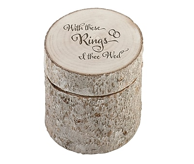 Lillian Rose White Washed Pine Ring Holder -