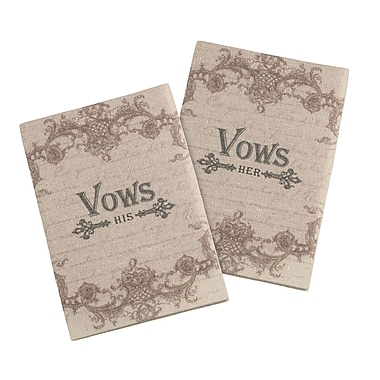 Lillian Rose Set of 2 Tan His/Her Vows Books (VB100 T2)