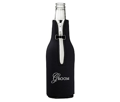 Groom Bottle Cozy - Black (WF672 GR)