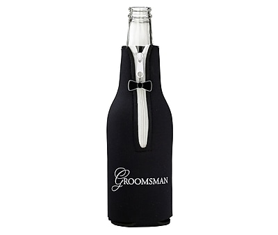 Groomsman Bottle Cozy - Black (WF672 GM)
