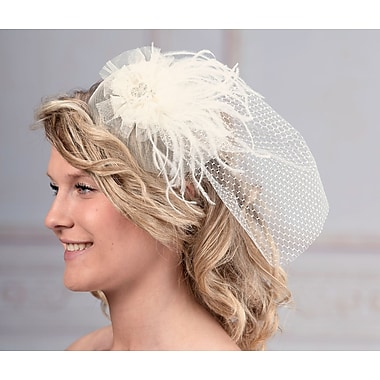 Ivory Veil with Marabou Feather (JL246 I )