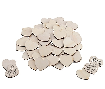 Lillian Rose Wooden Signing Hearts - Set of 48 (GA563)