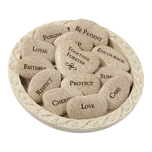Lillian Rose Vow Stones (Set of 13 Stones with Plate)  (SR500)