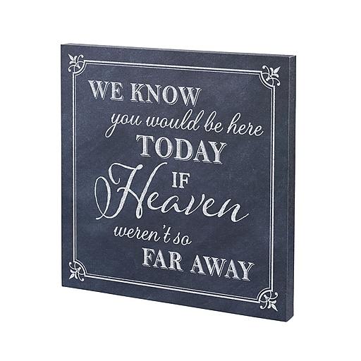 "Lillian Rose ""Here Today"" Canvas Wedding Sign (SI510 HT)"