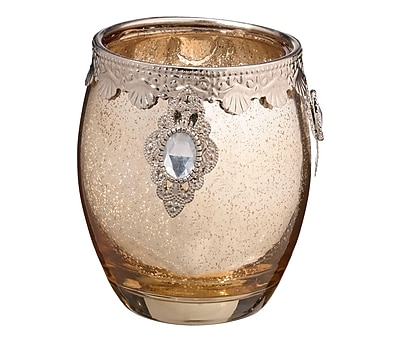 Lillian Rose Gold Glass Candle Holder (CA941 G ) 2621885