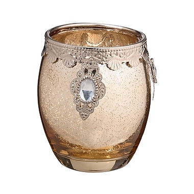 Lillian Rose Gold Glass Candle Holder (CA941 G )