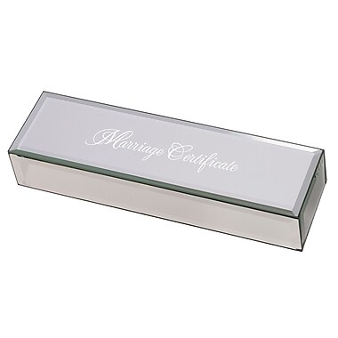 Lillian Rose Mirrored Marriage Certificate Box (BX200 MC)