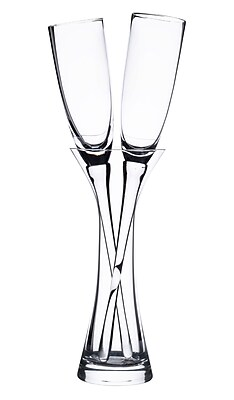 Lillian Rose Long Stemmed Toasting Glasses with Vase (G200)