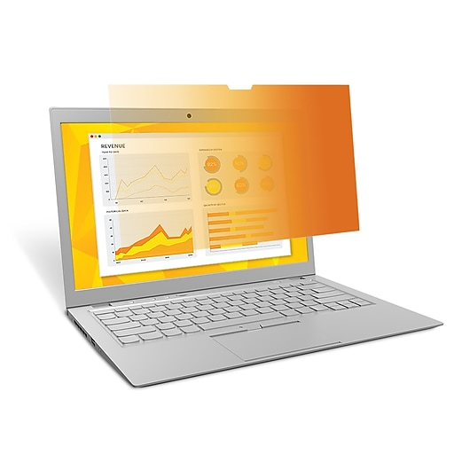 """3M™ Gold Privacy Filter for 14"""" Widescreen Laptop (16:9) (GF140W9B)"""