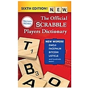Merriam-Webster The Official SCRABBLE Players Dictionary, 6th Edition, Pack of 3 (MW-5964BN)
