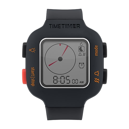 Time Timer Watch Plus, Small, Charcoal (TTMTTW8YORW)
