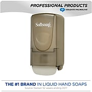 "Softsoap® Liquid Dispenser, Smoke, 800 ml, 10""H x 5 1/4""W x 3 1/8""D"