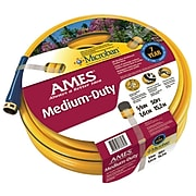 AMES® All Weather Garden Hoses, 5/8 in x 50 ft, Yellow (027-4008100A)