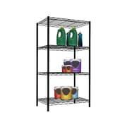 "Home Basics 4-Shelf Wire Unit, 21""W, Black (WS00694)"