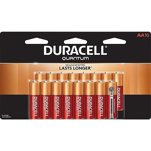 Duracell Quantum Alkaline Battery, AA, 16 Pack (QU1500B16Z11)