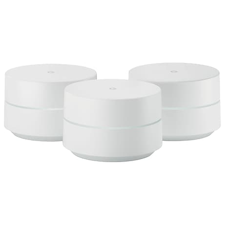 Google Dual Band Wireless and Ethernet Whole Home Wi-Fi System, 3/Pack (811571018987)