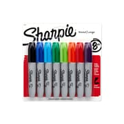 Sharpie Permanent Markers, Chisel Point, Assorted Colors, 8/Pack (38250)
