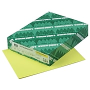 """Astrobrights Cover Paper, 65 lbs, 8.5"""" x 11"""", Lift-Off Lemon, 250/Ream (22831)"""