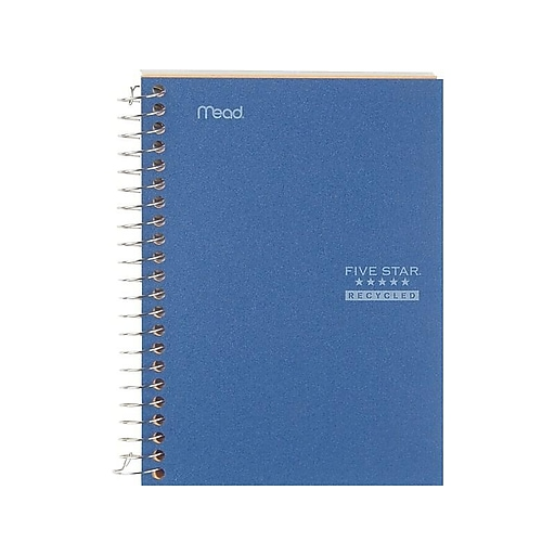"Five Star Memo Notebook, 5"" x 7"", College Ruled, 96 Sheets, Assorted Colors (45616)"