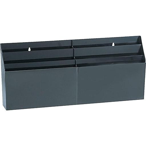 Rubbermaid Optimizers File Organizer Black Plastic 96060ros At Staples