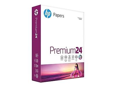 "HP Premium24 8.5"" x 11"" Multipurpose Paper, 24 lbs, 100 Brightness, 500/Ream (HPJ1124)"