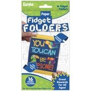 Eureka Fidget Folders, You Can Toucan, 16 Per Pack, 6 Packs (EU-872002BN)
