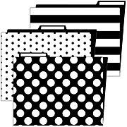 Schoolgirl Style Simply Stylish Folder, 6/Pack (136087)