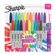 Sharpie Color Burst Permanent Markers, Fine Point, Assorted Colors, 24 Count (1949557)