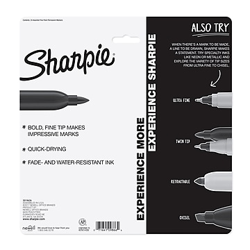Sharpie Color Burst Permanent Marker, Fine Point, Assorted Colors, 24/Pack (1949557)