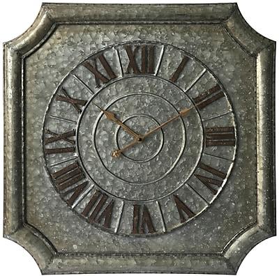 Infinity Instruments 22.75 in H x 22.75 in L x 1.5 in D Silver clock (15232GA)